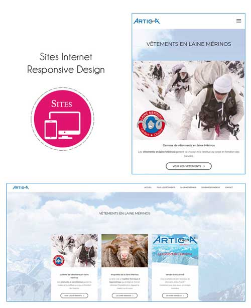 Sites Internet Responsive design - Mobile friendly