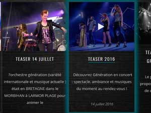 creation du site web de musique